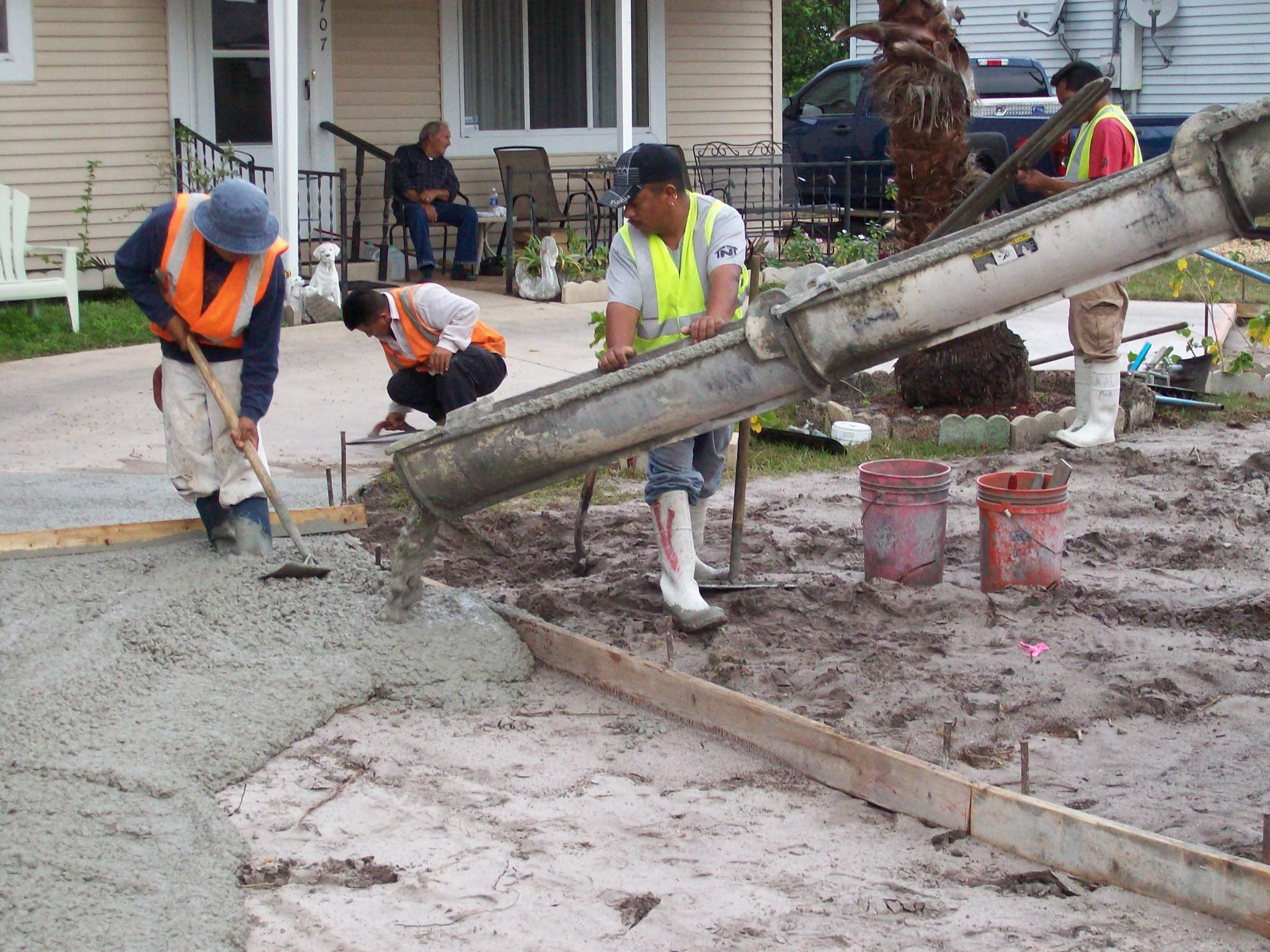 301 moved permanently for How to pour a concrete driveway